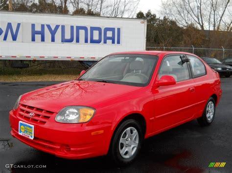 2003 Retro Red Hyundai Accent GL Coupe #57875764 Photo #19
