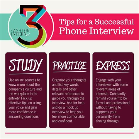 tips for phone interviews pin by fashion intern ph on infographics