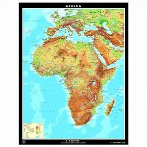 Africa Physical  U0026 Political Map