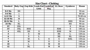 Size Charts Nextgen Children 39 S Resale Nextgen Children