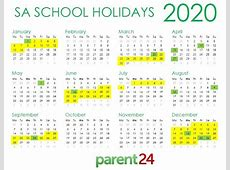 PRINT IT SA's 2020 school holiday calendar Parent24