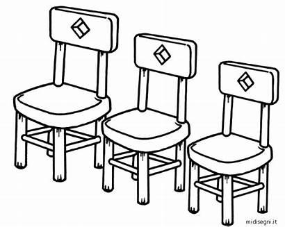 Disegni Colorare Riccioli Midisegni Goldilocks Cadeiras Bambini