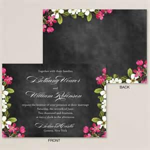 chalkboard wedding invitations floral garden chalkboard wedding invitation