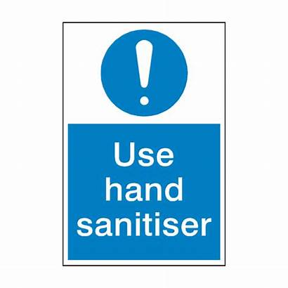 Hand Sign Sanitiser Mandatory Clean Signs Safety