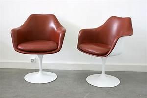 saarinen 6 fauteuils tulipe cuir knoll lausanne suisse With fauteuil tulipe