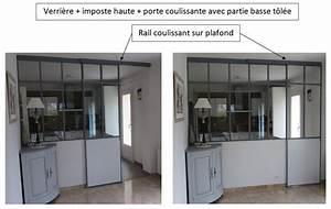 Porte Coulissante Verriere : principe ~ Carolinahurricanesstore.com Idées de Décoration