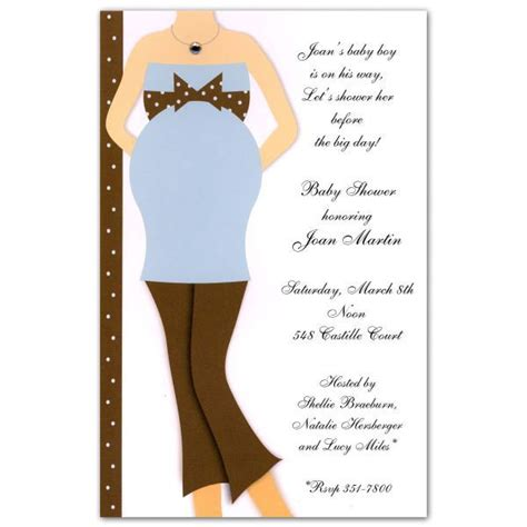 diamond baby shower blue  brown invitations paperstyle