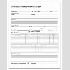 Crime Scene Worksheets — Tbi Learn