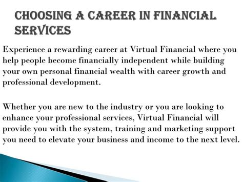 Financial Services Careers by Ppt Make A Career In Financial Gropu Powerpoint