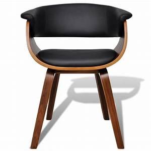Chaise De Salon Design : 2 chaises de cuisine salon salle manger design noir bois et cuir helloshop26 1902045 ~ Teatrodelosmanantiales.com Idées de Décoration