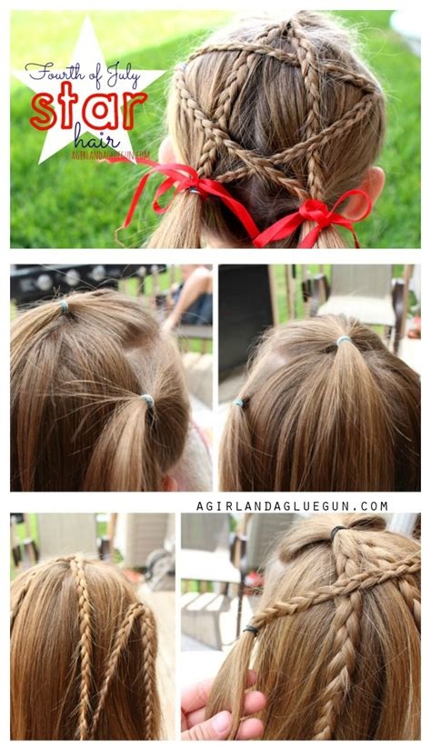fourth  july star hair pinned   times
