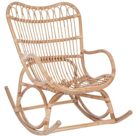 fauteuil 224 bascule bambou et rotin jolipa 61390 magasin
