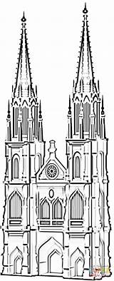 Cathedral Famous Coloring Koln Pages Germany Cologne Printable Dom Supercoloring Koelner Buildings Crafts Coloringpages101 Ausmalbilder Ausmalbild Drawing sketch template
