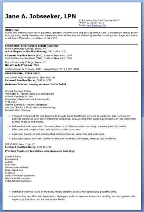 lpn resume objectives  excel templates