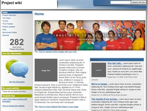 wiki template 10 handy web templates from practical ecommerce