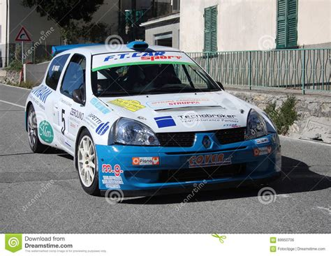 renault clio rally car renault clio super 1600 rally car editorial photo image