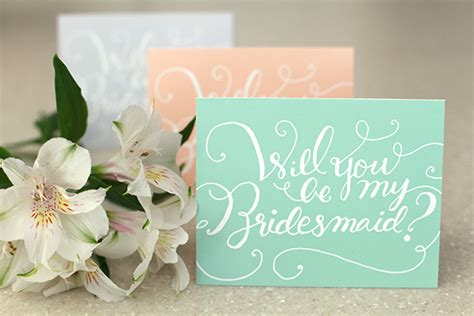 bridesmaid cards template