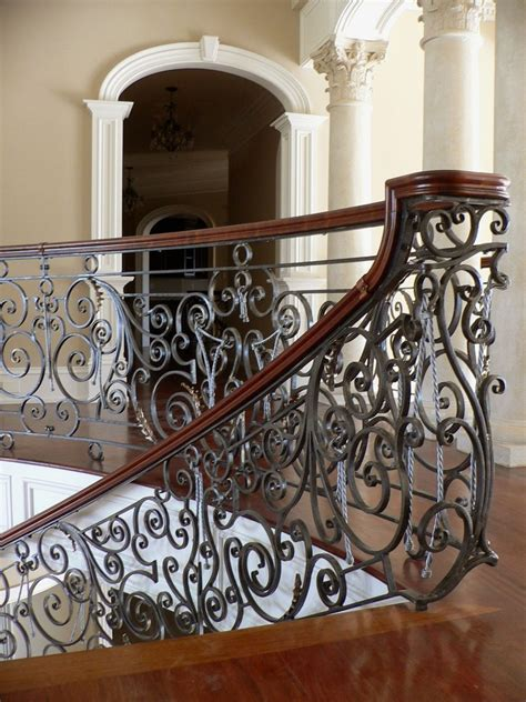 hand crafted exquisite hand forged railing  curving
