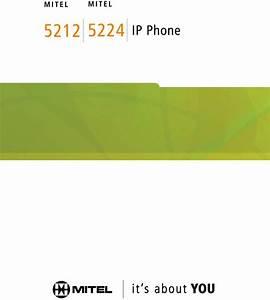Mitel 5224 Ip Phone  Networks 5212 Ip Phone User Manual