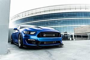 Matte Blue Ford Mustang GT S550 - Forgestar D5 Beadlock Drag Racing Wheels