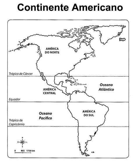 10 Mapas do Continente Americano para Colorir e Imprimir