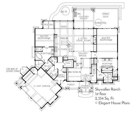 house plan blueprints skywalker ranch house plan residential home building plans