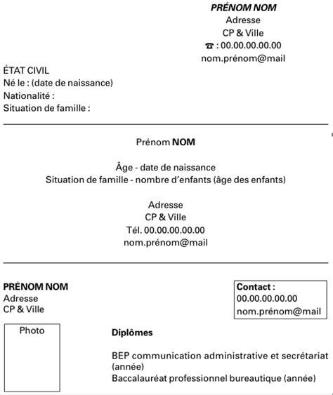 Modèle De Présentation De Cv by Resume Format Lettre De Cv Post Bac