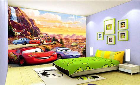 3d Wall Murals Wallpaper For Kids Room Cars Cute Children