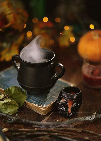 Halloween Autumn Cinemagraphs Cinemagraph Morning Coffee Aesthetic