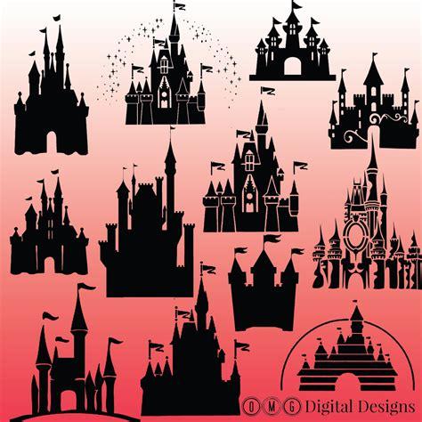 Disney Castle Clipart Disney Castle Silhouette Clipart Clipground