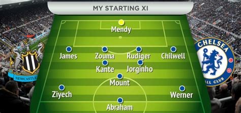 Chelsea predicted XI for Newcastle clash with two key ...