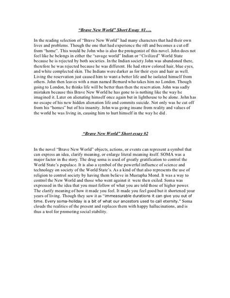 Creative Essay On Brave New World by Technology Brave New World Essay Writefiction581 Web Fc2