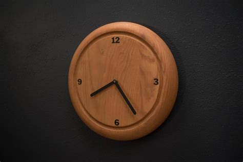 Vintage Solid Wood Wall Clock By Howard Miller For Sale At