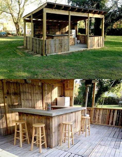 Outside Bar Ideas outside bar decorating tips in 2019 outdoor pallet bar