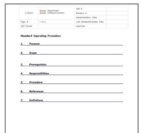 sop template free 37 best free standard operating procedure sop templates free template downloads