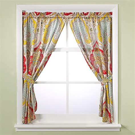 echo design jaipur bathroom window curtain panel pair