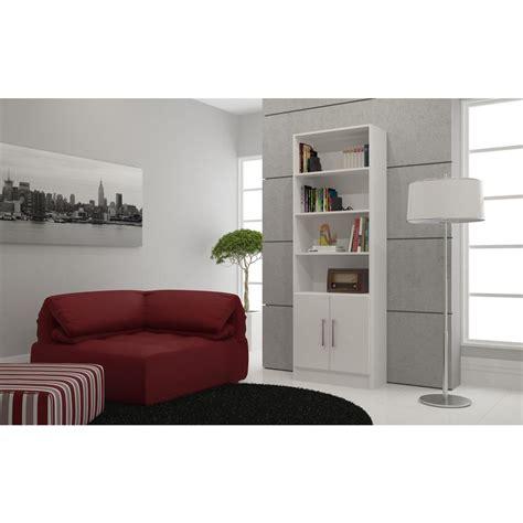 Manhattan Bookcase by Manhattan Comfort Catarina White Storage Open Bookcase