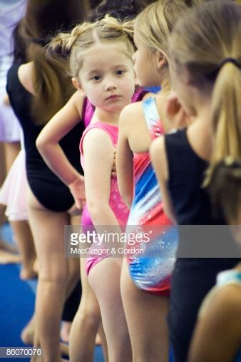 row  girls wearing leotards stock photo getty images