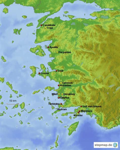 Türkei Karte ägäis