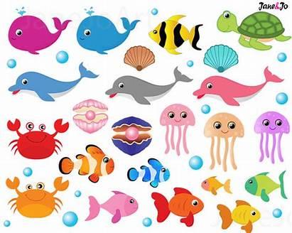 Sea Animals Clipart Animal Creatures Fish Clip
