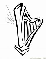 Coloring Harp Coloringpages101 sketch template
