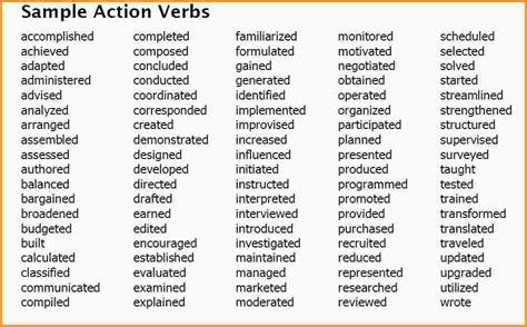 8 list of verbs mac resume template