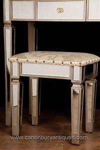 art deco mirrored dressing table stool set bedroom furniture With bedroom furniture sets with dressing table