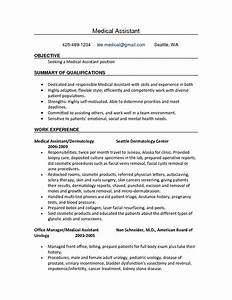resume templates medical assistant resume samples With cma resume examples