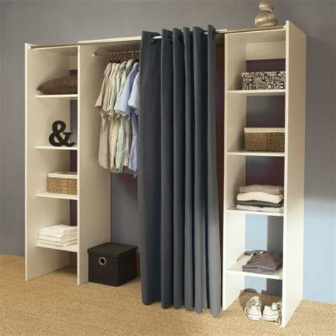 dressing rideau pas cher vente unique dressing extensible 8 niches 1 penderie en bois l112 185xp50xh182cm artemis 112cm