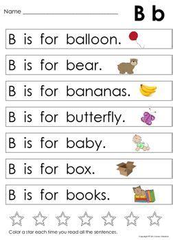 alphabet sentences beginning sounds letter recognition