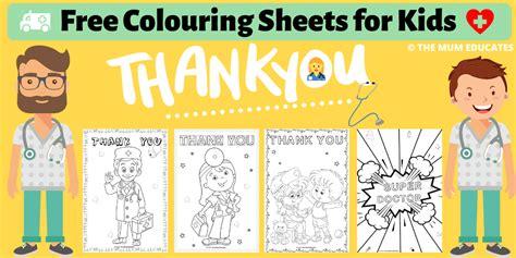 colouring sheets  kids doctors nurses nhs  mum educates