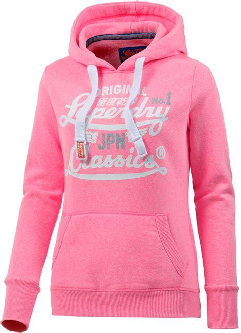 superdry hoodie damen rosa kleidung pullover qofqvzvp 243142 57 16 superdry