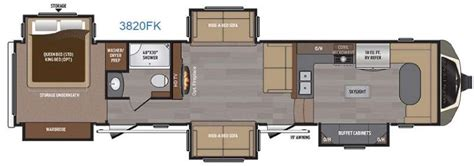 front kitchen rv floor plans new 2016 keystone rv montana 3820 fk fifth wheel at 6758