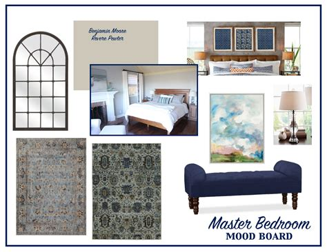 The Design Process  Master Bedroom Mood Board Living